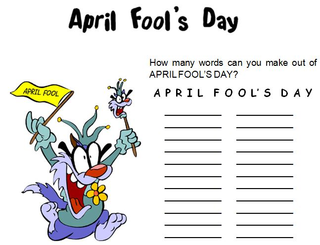 Lesson of the Week: April Fool's Day!