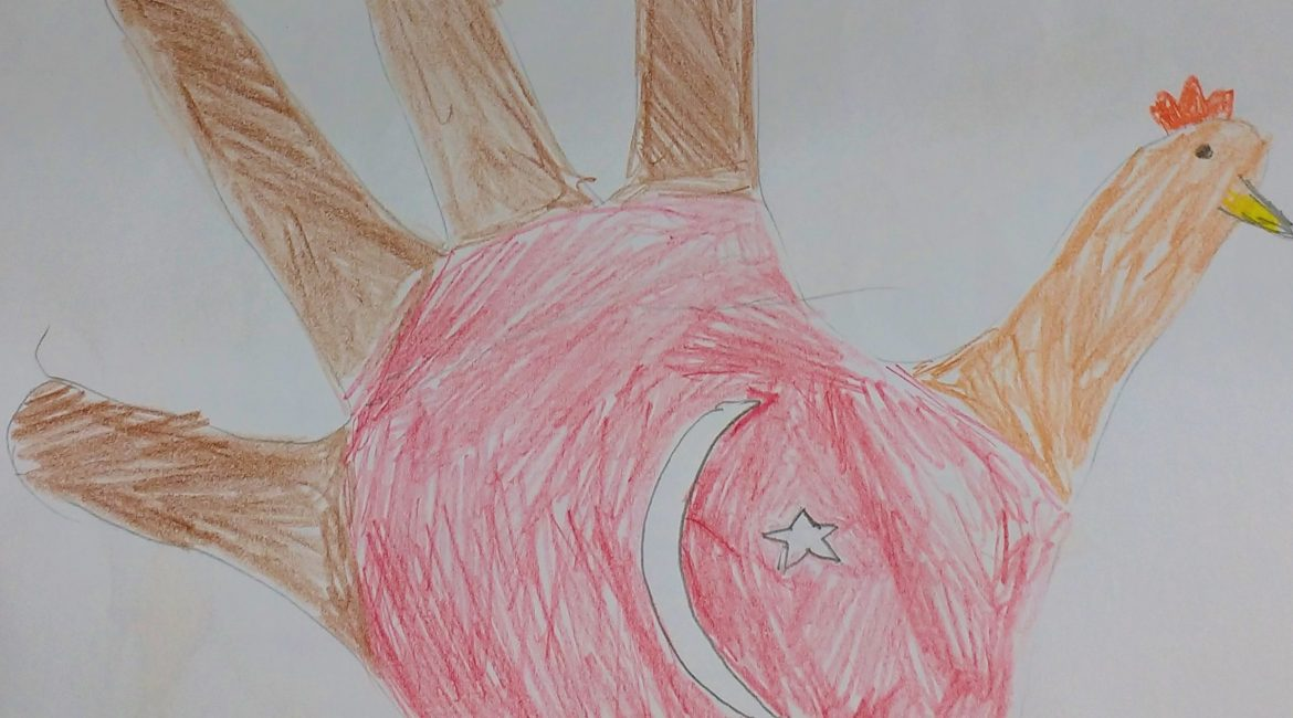 Lesson(s) of the Week: Thanksgiving & Hand Turkeys