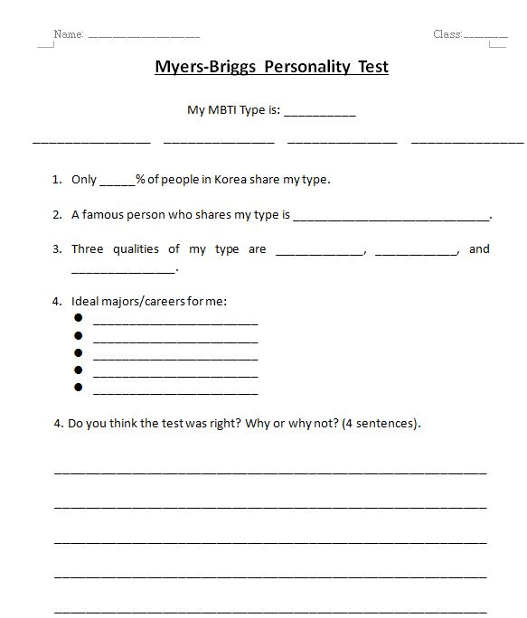 This is a picture of Accomplished Printable Personality Test for Students